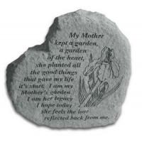My mother kept a garden of the heart...Decorative Garden Stone