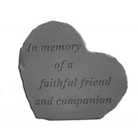 In memory of a faithful friend...Small Heart Pet Memorial Garden Stone