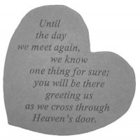 Until the day we meet again...Small Heart Memorial Garden Stone