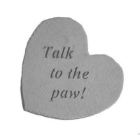 Talk to the Paw...Small Heart Decorative Garden Stone