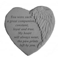 You were such a great companion...Winged Heart Memorial Garden Stone