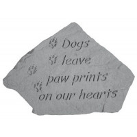 Dogs leave pawprints on our hearts Pet Memorial Garden Stone