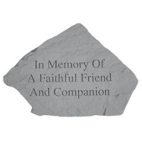 In Memory of a Faithful Friend...Pet Memorial Garden Stone