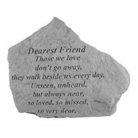 Those we love don't go away...Memorial Garden Stone - Dearest Friend
