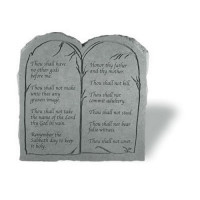 Ten Commandments Decorative Garden Stone