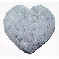 Cast Stone - Large Heart - Printed in upward position.