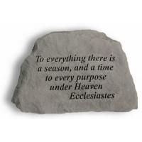 To everything there is a season...Ecclesiastes Decorative Garden Stone
