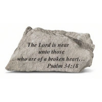 The Lord is near unto those...Psalm 34:18 Decorative Garden Stone