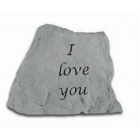 I Love You Decorative Garden Stone