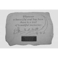 Whenever a beautiful soul...Memorial Garden Stone