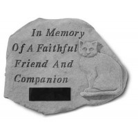 In Memory of a Faithful...Pet Memorial Garden Stone