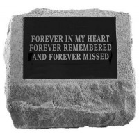 Headstone with Urn Cast In Bottom Pet Memorial Garden Stone