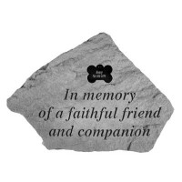In Memory of...Pet Memorial Garden Stone