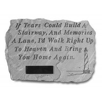 If Tears Could Build a Stairway w/ Lighthouse Memorial Garden Stone