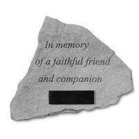 In Memory of a Faithful Friend... Memorial Garden Stone