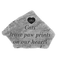 Cats leave paw prints...Pet Memorial Garden Stones