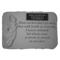 Those We Love Don't Go Away...w/ Angel Memorial Garden Stone