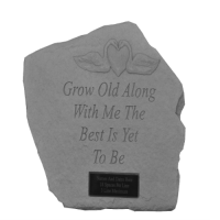 Grow Old Along With Me...Memorial Garden Stone