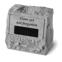 Gone Yet Not Forgotten...Memorial Headstone w/ urn
