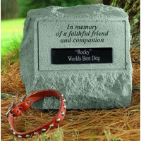 In Memory of a Faithful Friend...Memorial Headstone w/ urn