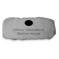 Forever remembered, Forever missed...Memorial Garden Bench