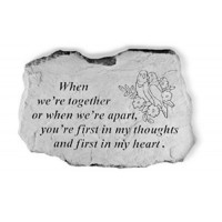 When We're Together...Decorative Garden Stone