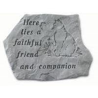 Here Lies a Faithful Friend...Pet Memorial Garden Stone