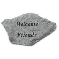 Welcome Friends Decorative Garden Stone