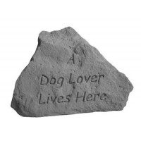 A dog lover lives here...Decorative Garden Stone