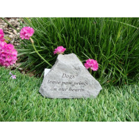 Dogs Leave Paw Prints On Our Hearts Pet Memorial Garden Stone