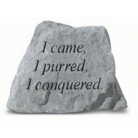 I Came, I Purred, I Conquered Decorative Garden Stone