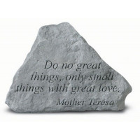Do No Great Things...Decorative Garden Stone
