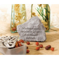 Mothers Plant the Seeds of Love...Decorative Garden Stone