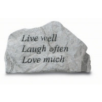 Live Well, Laugh Often, Love Much Decorative Garden Stone