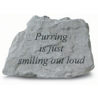 Purring is Just Smiling Out Loud Decorative Garden Stone