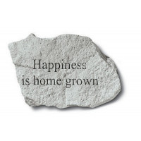 Happiness is Home Grown Decorative Garden Stone