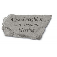 A good neighbor is a welcome...Decorative Garden Stone