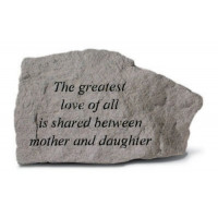 The greatest love of all is shared between mother...Decorative Garden Stone