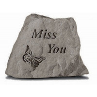 Miss you w/ butterfly Decorative Garden Stone