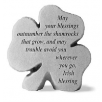 May your blessings outnumber...Decorative Shamrock Garden Stone