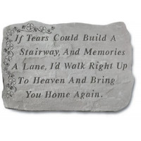 If tears could build a stairway...Memorial Garden Stone w/ Shamrocks