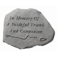 In memory of a faithful friend...Pet Memorial Garden Stone w/ Leash & Collar