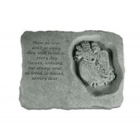Those we love don't go away...Memorial Garden Stone w/ Angel