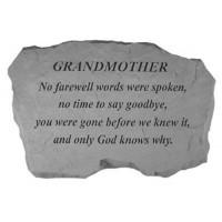 No Farewell Words were spoken...Memorial Garden Stone - Grandmother