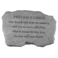 Our hearts still ache in sadness...Memorial Garden Stone - Precious Child