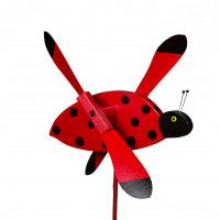 Lady Bug Whirlybird Garden Stake