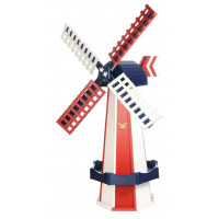 Medium Poly Garden Windmill - Patriotic