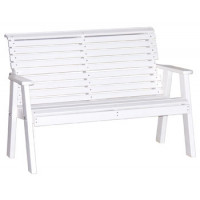 4' Rollback Plain Poly Bench