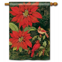 Poinsettia Cardinals Standard Flag