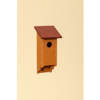 Poly Wood Bluebird House - Cedar Base/Cherry Roof